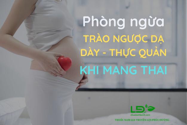 Cách làm giảm trào ngược dạ dày thực quản khi mang thai